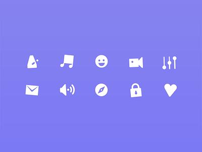 Youdio Icons iconography audio video metronome music app icons