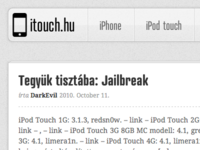 Remastering iTouch.hu 2