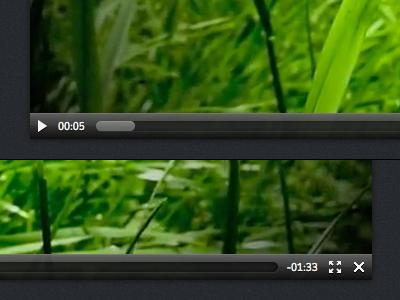Vegetative Player html5 video player dark glossy vegetative