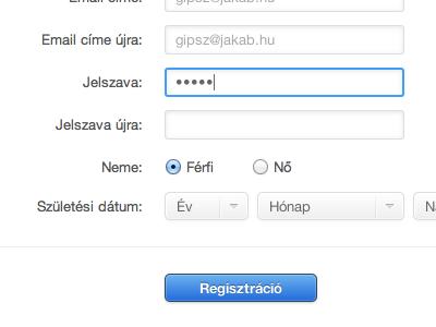 Registration Form registration form light