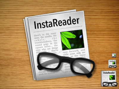ReadKit (formelly InstaReader) Icon icon mac app desktop glass paper