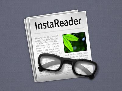ReadKit (formelly InstaReader) icon – fixed paper icon mac glass readkit