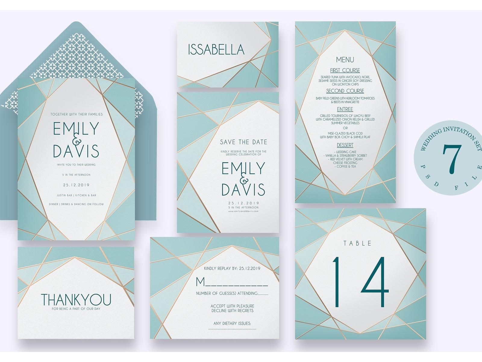 Geometric - Wedding Invitation Ac.58 by Invitations - Dribbble