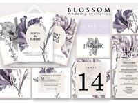 Blossom - wedding invitation Ac.28