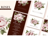 Roses - Wedding Invitation Ac.23