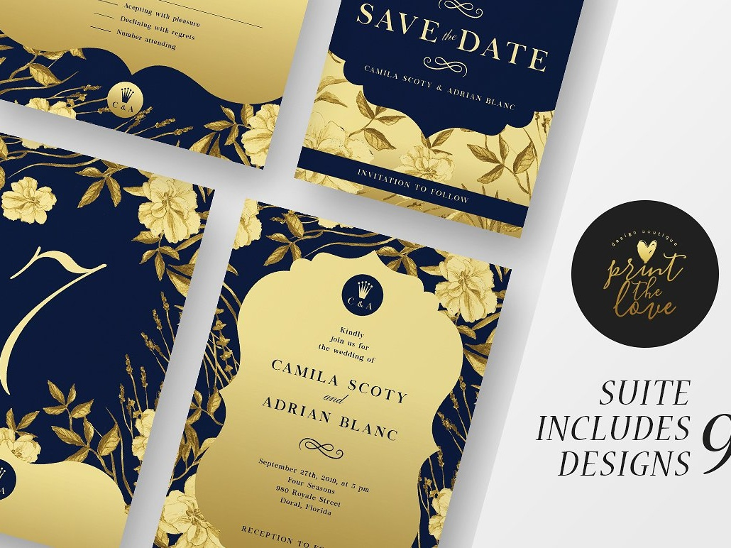 Wedding Invitation Suite The Queen By Invitations On Dribbble