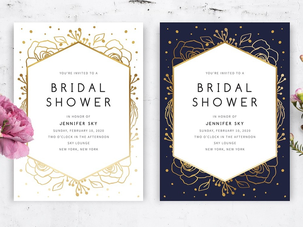 floral bridal shower invite wedding invitation wedding gift cards logo design floral flower romance hand crafted