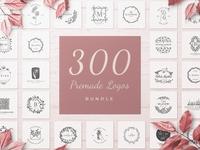 300 Premade Logos Bundle
