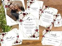 Burgundy and Blush Wedding Set