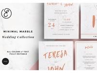 Minimal Marble Wedding Collection