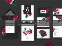 Roses - Wedd.Invitation Suite Ac.98