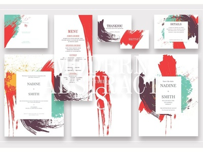 Modern Abstract Wedding Suite Ac.113