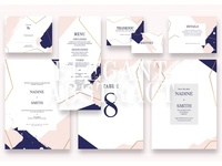 Elegant Abstract Wedd.Suite Ac.114