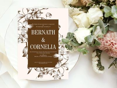 Classic Floral Wedding Suite Ac.136