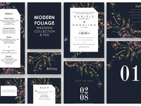 Modern Foliage Wedding Suite