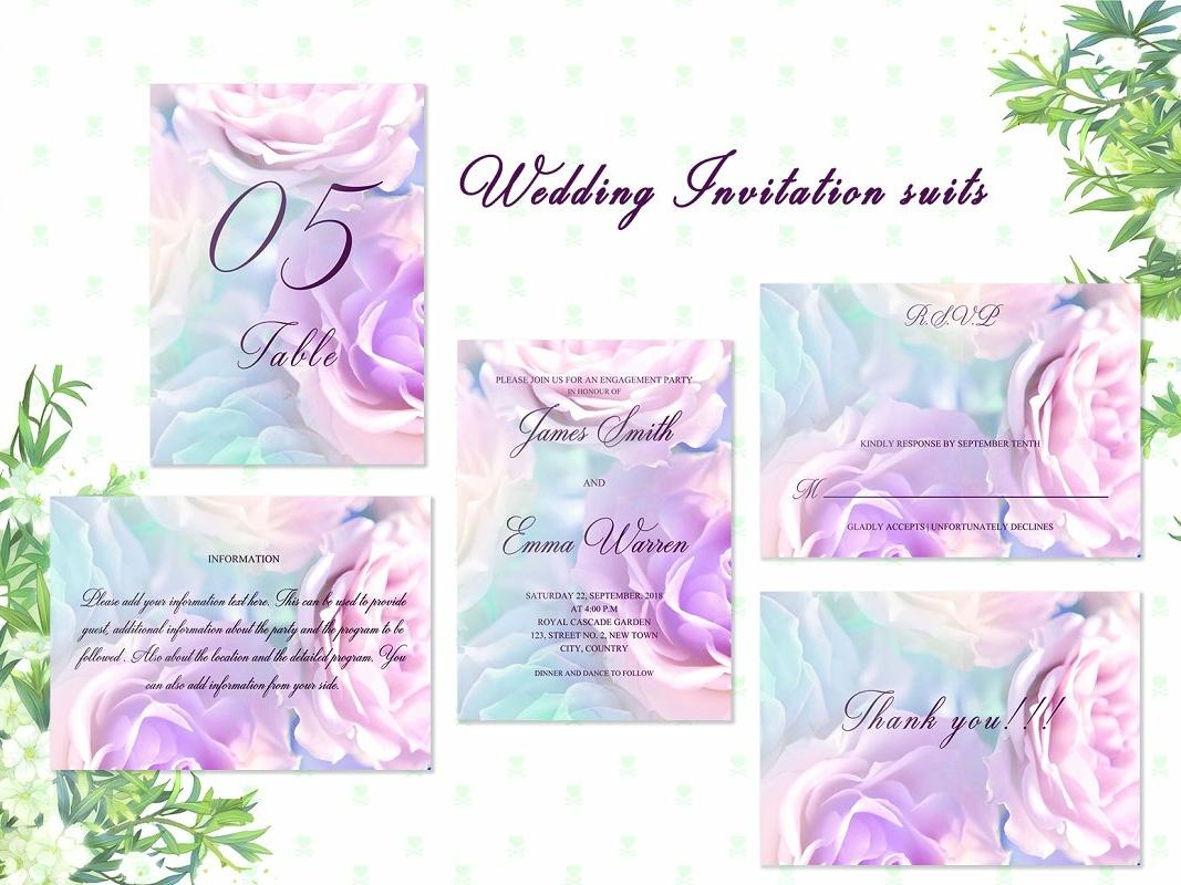 Pink Rose Wedding Card Invitation wedding invitation wedding gift cards logo design flower floral romance cute hand crafted craft wedding card simple invitation hand drawn invitation simple delicate invitation set modern invitation invitation card