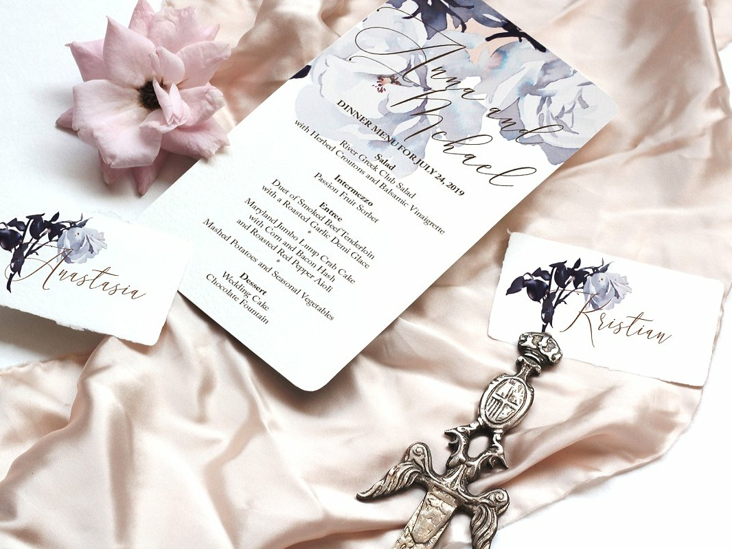 Roses Wedding Invitation Suite 3 By Invitations Dribbble Dribbble