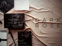Wedding Invitation Suite Dark Rose