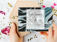 Texture Invitation Card