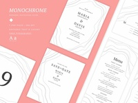Monochrome Wedding Invitation Suite