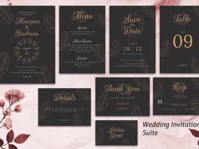 Wedding Invitation Suite vol. 02
