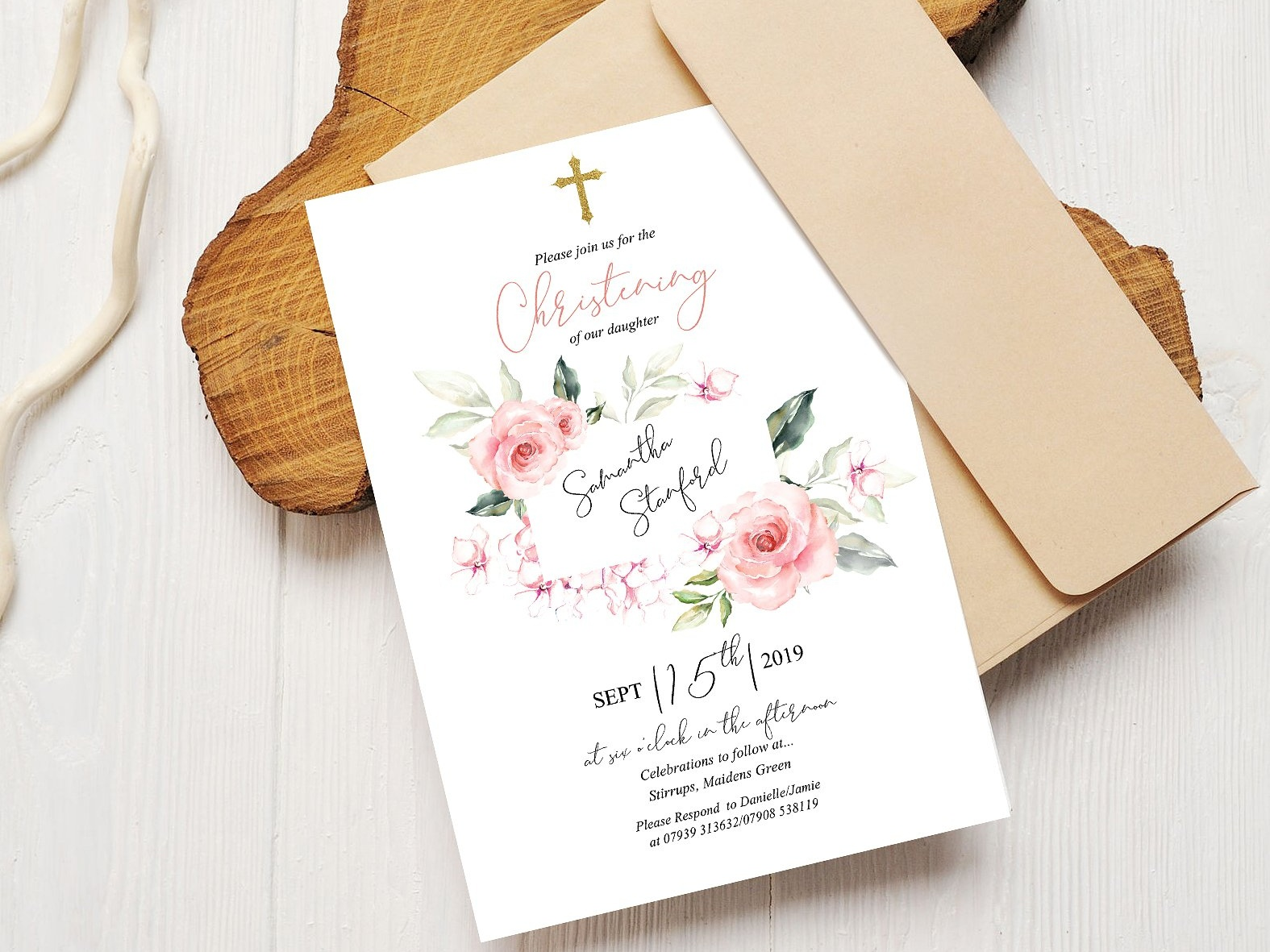 Christening Invitation Template By Invitations On Dribbble
