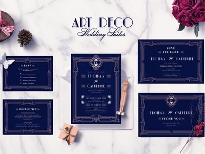 ART DECO WEDDING INVITATION SUITES
