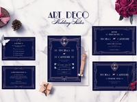 ART DECO WEDDING INVITATION SUITES