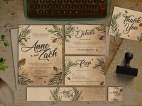 Leaves Wedding Invitation