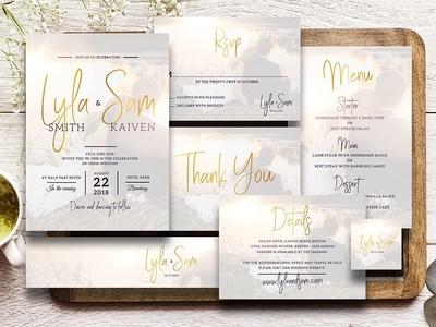 Simple Wedding Invitation Suite