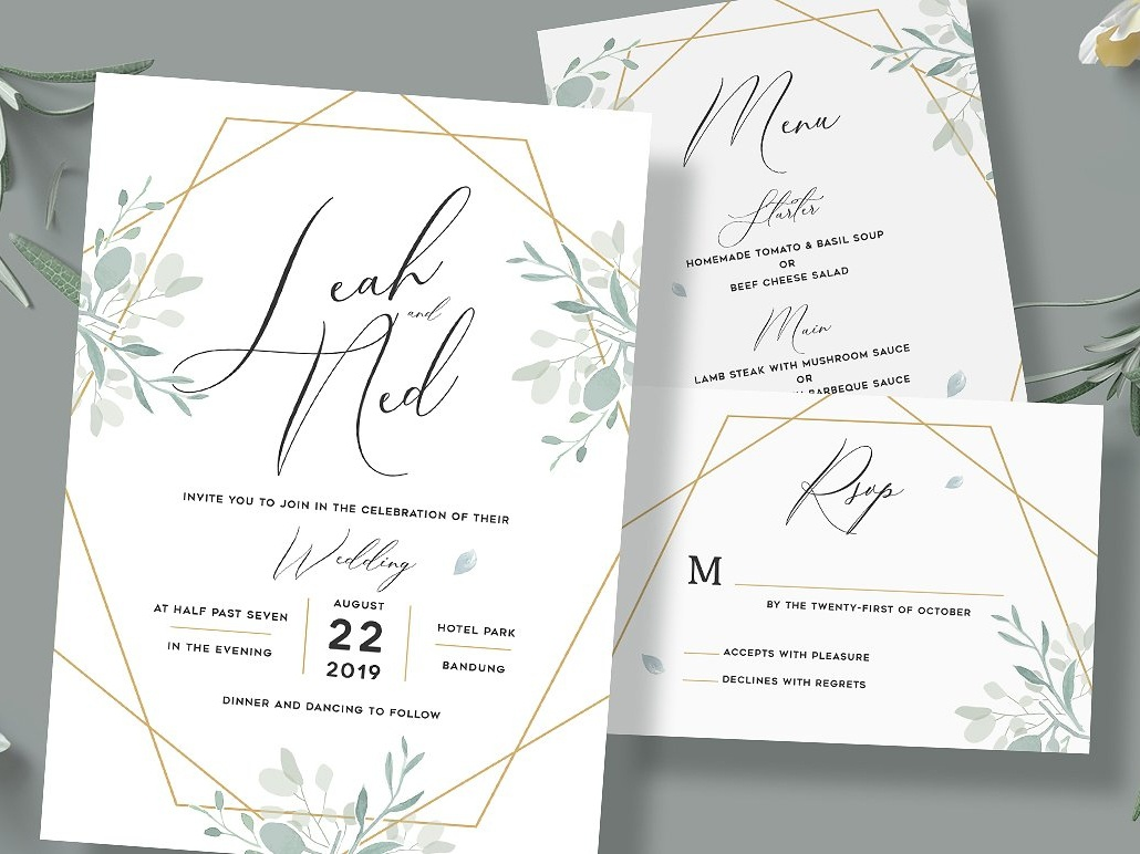 Geometric Wedding Invitation By