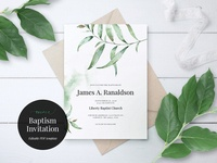 Baptism Invitation Template, Aurora