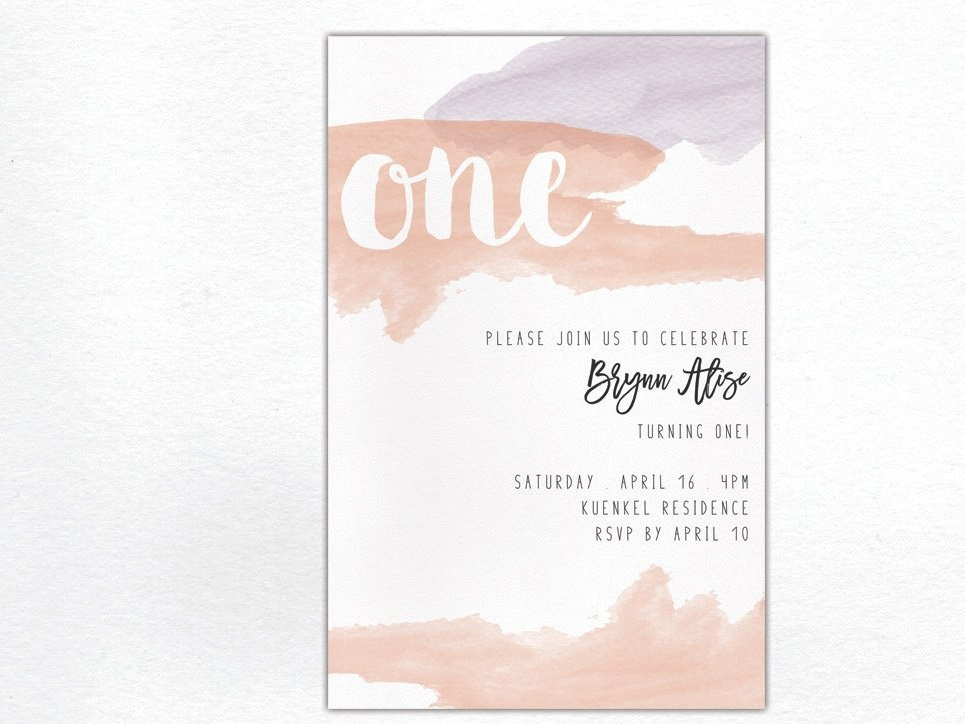 Birthday Watercolor Invitation By Invitations On Dribbble