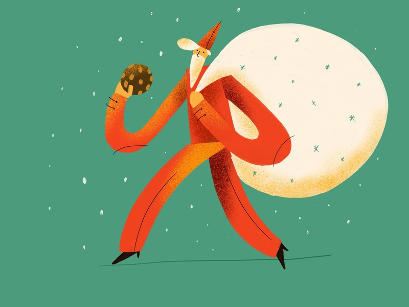 Santa santa claus procreate character design drawing illustration