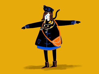 How to dress like a Parisian girl parisian character design illustration drawing