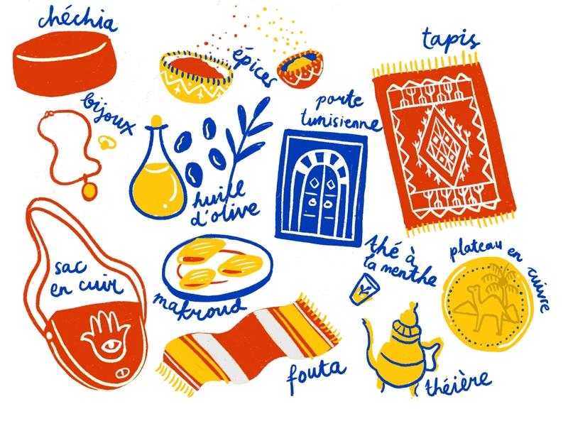 La Médina de Tunis tunisia travel tunis illustration drawing
