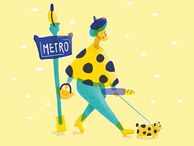 Parisiénne paris parisian character design illustration drawing