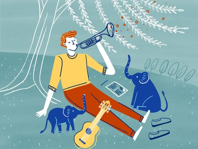 Beirut music beirut band beirut character design illustration drawing