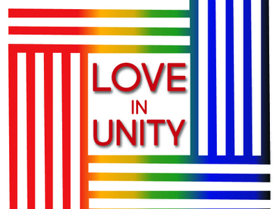Loveinunity Red 01 branding design charity logo