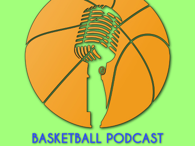 Basketball Podcast branding designer microphone podcast logo design logo