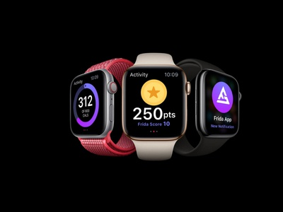 Heathcare Platform smartwatch wearables prototype interactive responsive clean app ios design ui ux