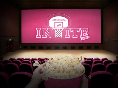 My First Shot pop corn first shot movie dribbble invite