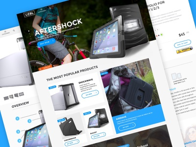 E-Commerce interfase wip colours responsive clean e commerce web design