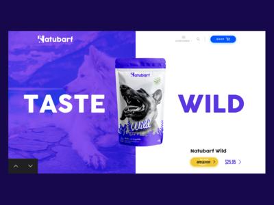 Web Design - Dogs Food prototype motion typography branding icon vector web design logo android web interactive illustration responsive clean app ios design ui ux