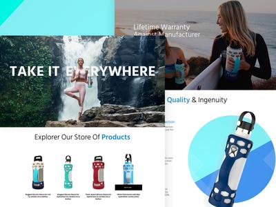 Marketplace Design responsive motion logo responsive design thermos prototype web interactive clean app ios design ui ux