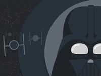 Darth Vader in Flat Design