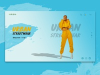 Urban Streetwear Home Landing Page Concept
