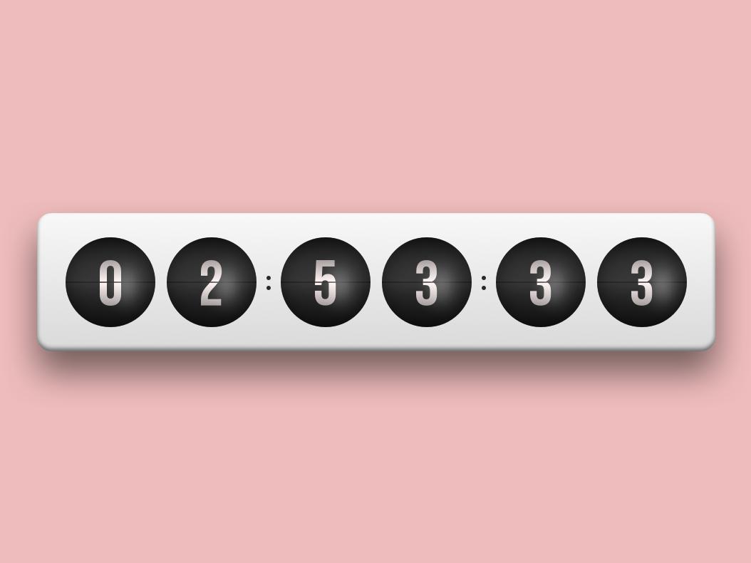 Countdown Timer gradient retro countdown timer challange
