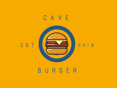 First Intro to cave burger branding