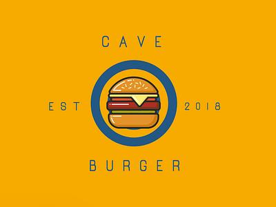 First Intro to cave burger branding adobephotoshop adobeillustator art direction grapic design font burger fast food logo branding brand